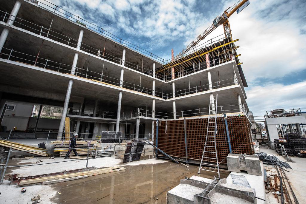 Chantier Le Blok siège social anahome immobilier lyon mars 2020 2