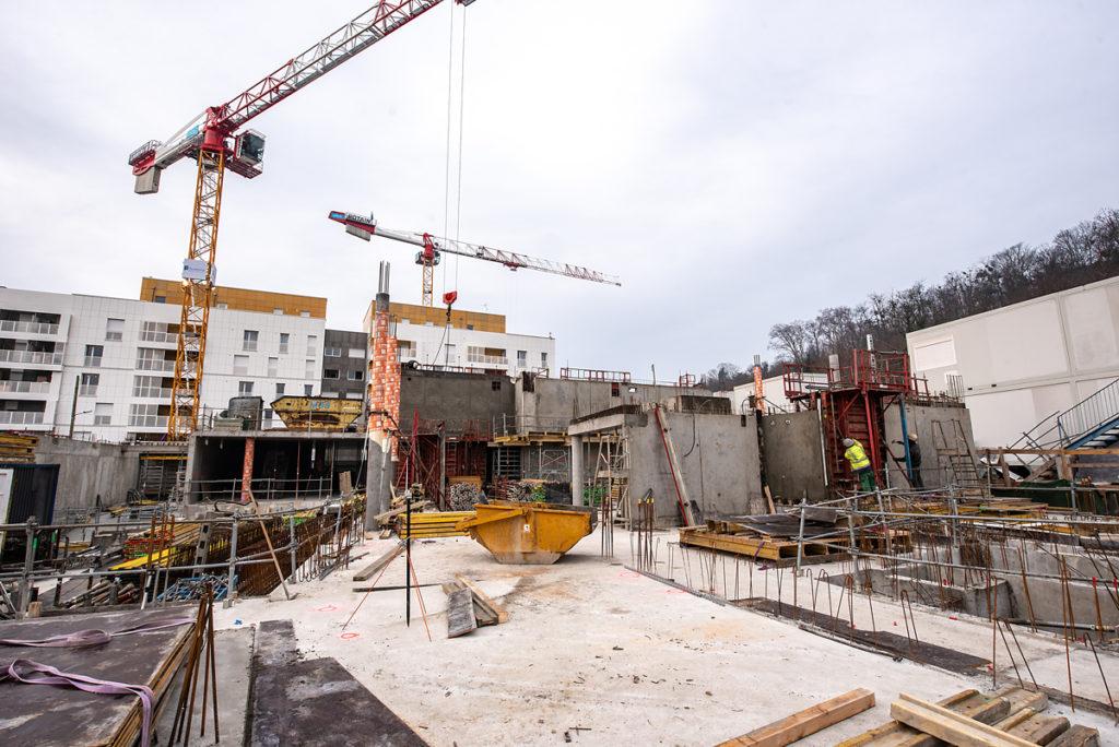Chantier Le Blok siège social anahome immobilier lyon 9 janvier 2020