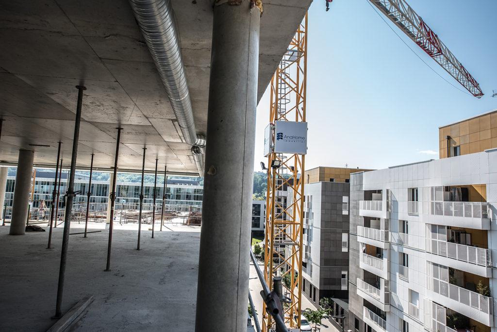 Chantier Le Blok siège social anahome immobilier lyon avril 2020 1