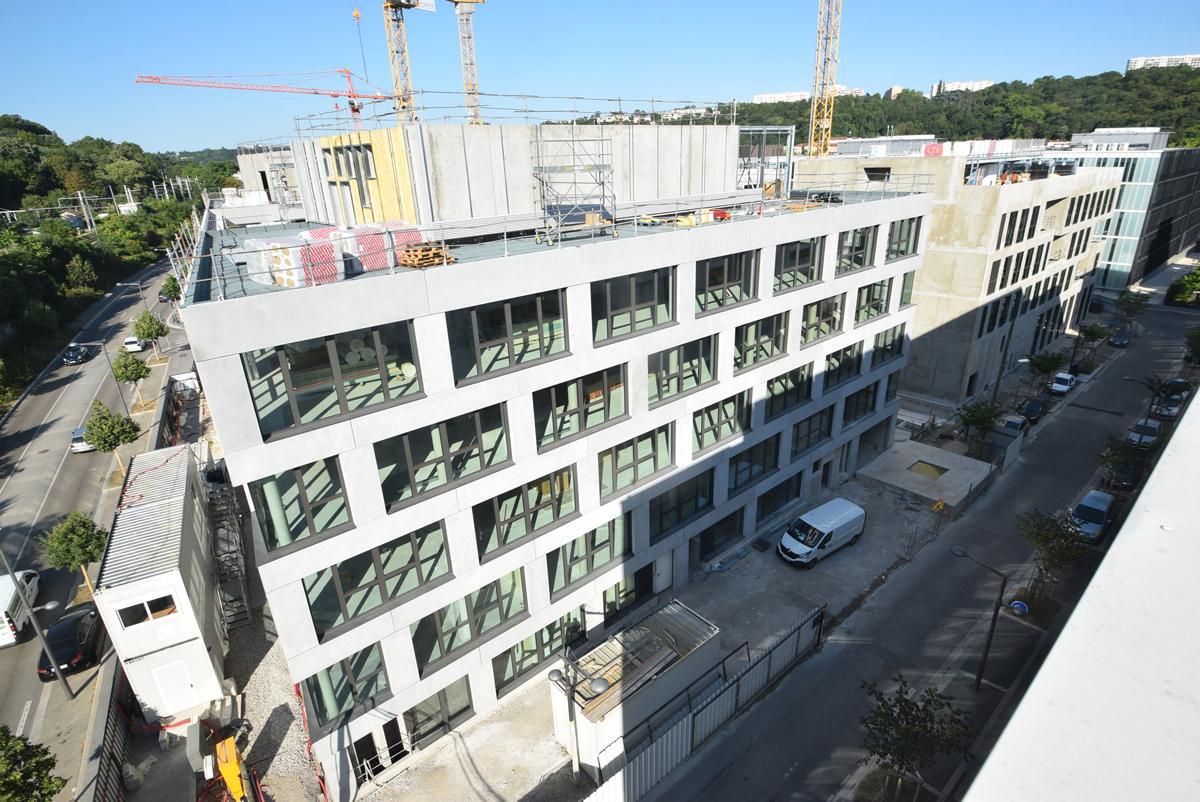 Chantier Le Blok siège social anahome immobilier lyon devisubox