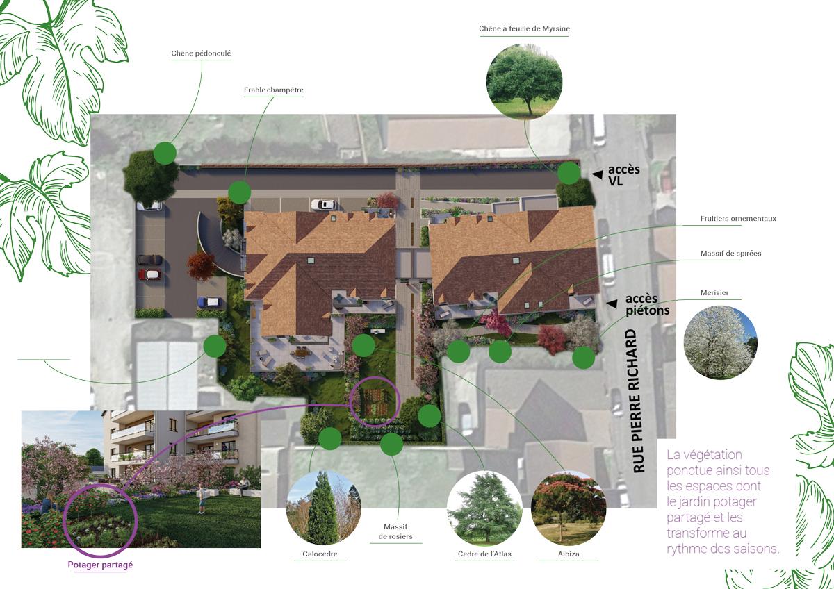 Plan Masse Potager Belena Beaune Appartements