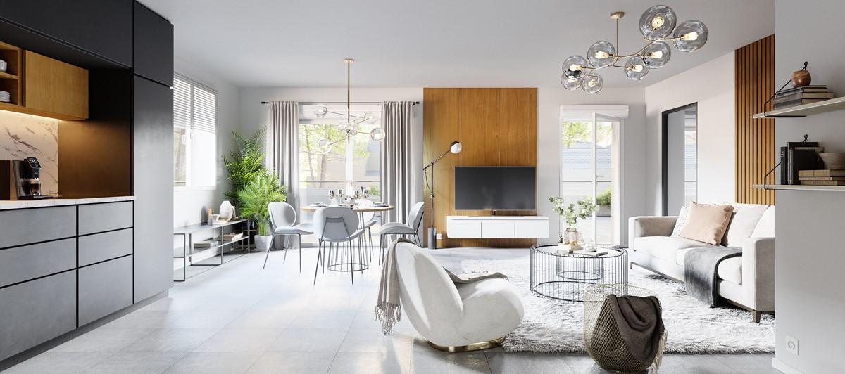 AnaHome Immobilier - Résidence Béléna Beaune Perspective Ultra réaliste